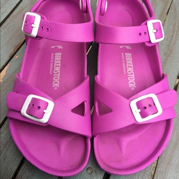 Big Girls Pink Birkenstock Sandals Size 333 EUC
